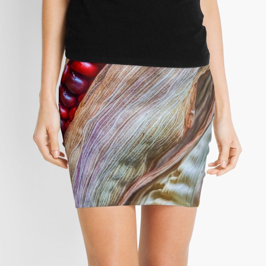 Colorful corn Mini Skirt Front