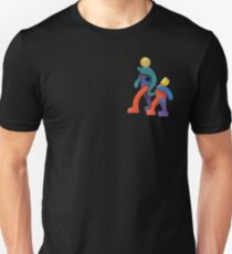 Joyful Spirit on Variety of Colored Backgrounds T-Shirt