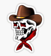 American Traditional Cowboy Sticker