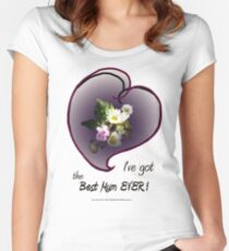wildflower, Best Mum EVER! heart Women's Fitted Scoop T-Shirt
