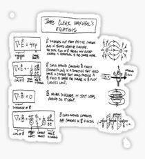 Maxwell's Equations [light] Sticker
