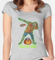 I Dab For Candy Zombie Pumpkin  Women's Fitted Scoop T-Shirt