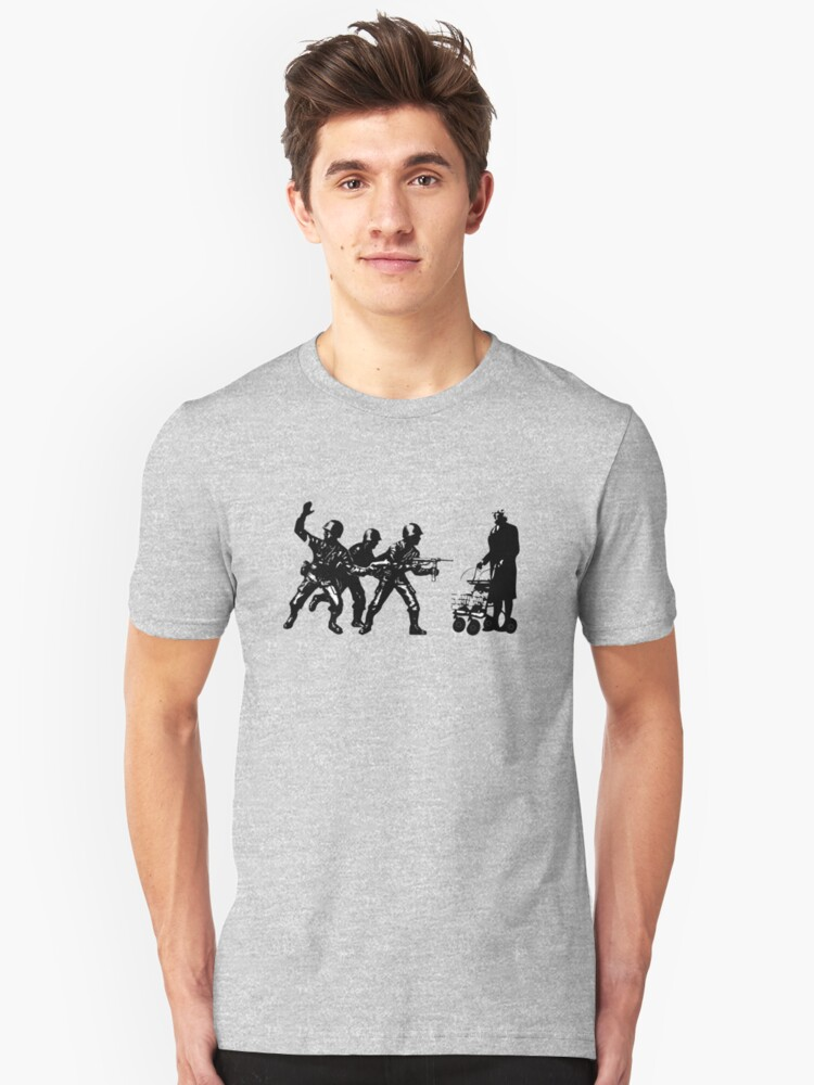 Once upon a time there was a granny in Gaza Unisex T-Shirt Front