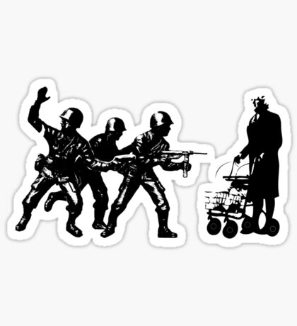 Once upon a time there was a granny in Gaza Sticker