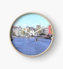 Little boat in Amsterdam Clock