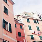 Pink Italian Houses  by AlexandraStr