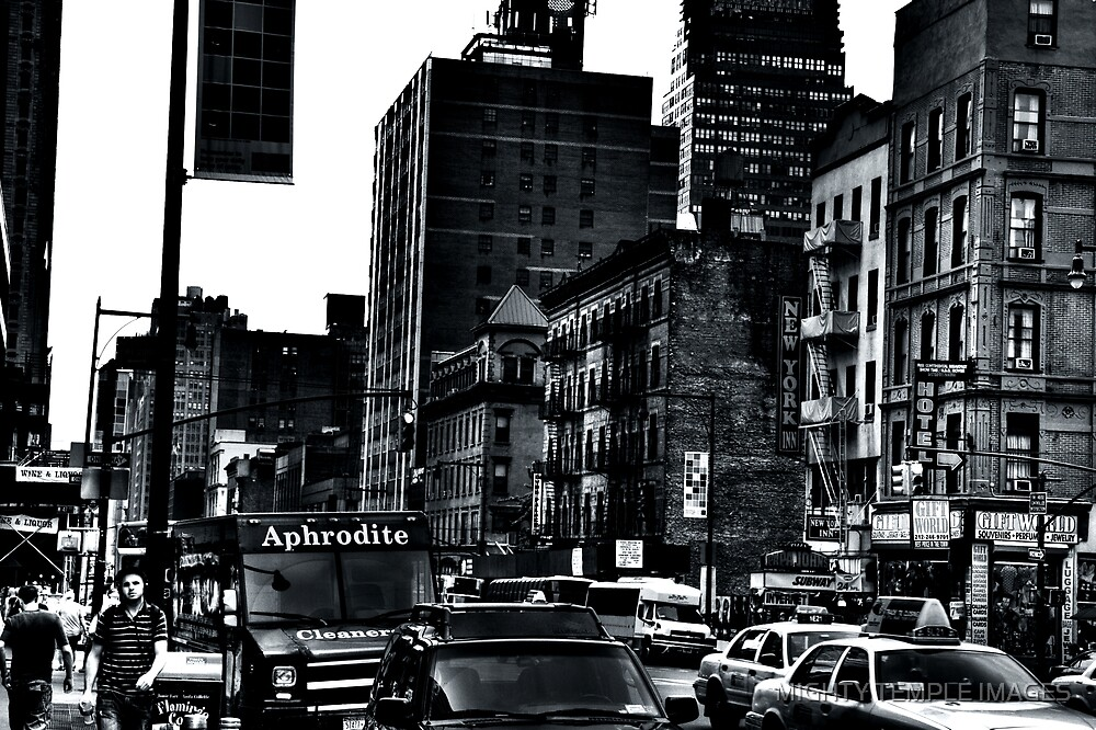 Madison Ave BW  II by MIGHTY TEMPLE IMAGES