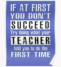 Teacher Succeed Posters | Redbubble