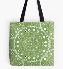 Green Mandala Design Tote Bag