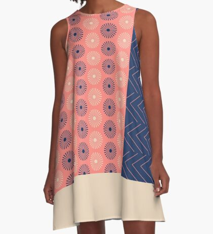 AFE Geometric Abstract A-Line Dress