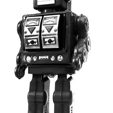 retro robot by puppaluppa