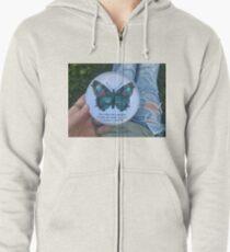 butterfly Zipped Hoodie