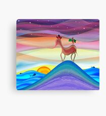 Purple fantasy horse sunset Canvas Print