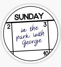 Sunday: in the park with George Sticker