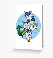 Medical Marijuana Unicorn Greeting Card