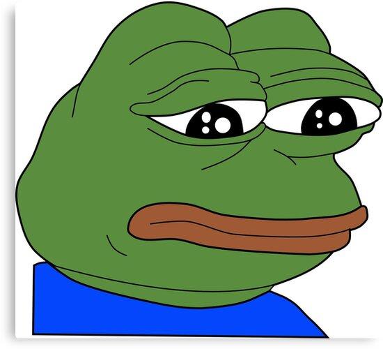 Rare Sad Pepe Frog Meme Print By Budgetnudest