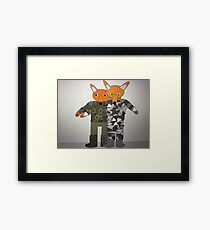 Comedy, Lieutenant Raspberry supported by Foxy from the British Army Framed Print