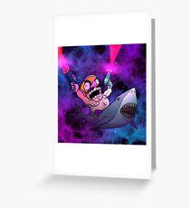 Wario Riding a Shark Greeting Card