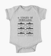 6 Stages Of Debugging Computer Programming One Piece - Short Sleeve