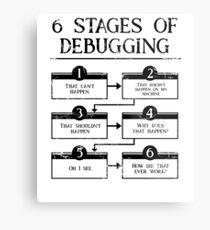 6 Stages Of Debugging Computer Programming Metal Print