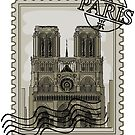 Paris Stamp Notre Dame by pda1986