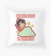 Punch the Sleep Throw Pillow