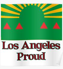 Los Angeles City Flag Poster