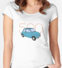 Fiat 500 - Classic Vintage Car Women's Fitted Scoop T-Shirt