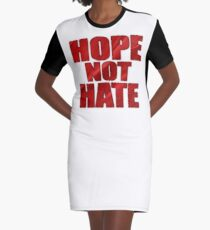 HOPE NOT HATE Graphic T-Shirt Dress
