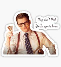 this aint that kinda movie bruv sticker Sticker