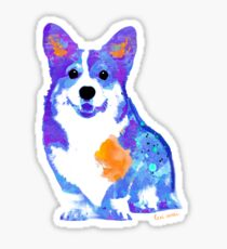 a lone corgi Sticker