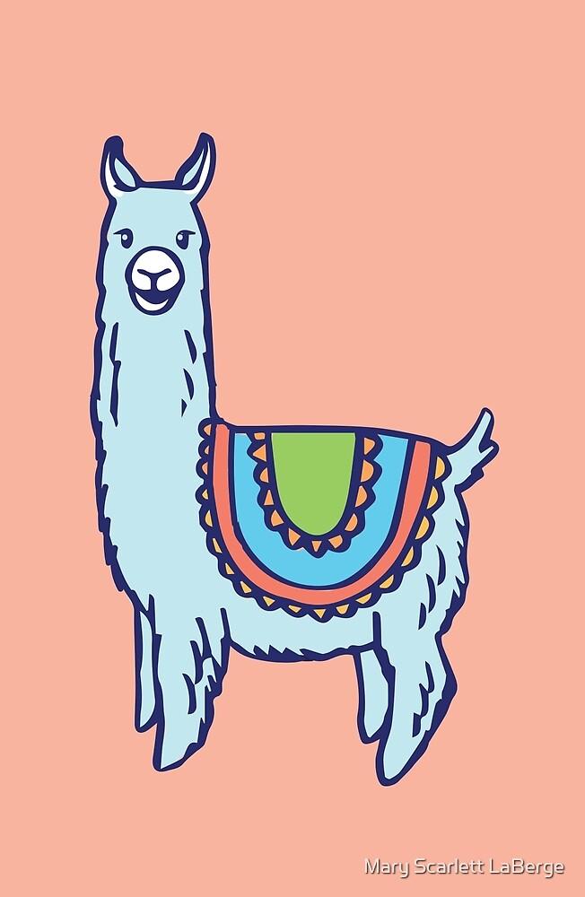 Happy Llama by Mary Scarlett LaBerge