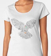 Typographic Peace Dove (black) Women's Premium T-Shirt