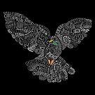 Typografische Friedenstaube (schwarz) von vomaria