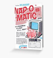Nap-O-Matic Grußkarte