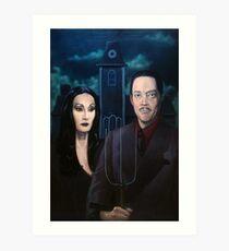 Addams Family Gothic Art Print