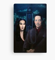 Addams Family Gothic Canvas Print