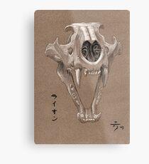 Lion Skull Metal Print