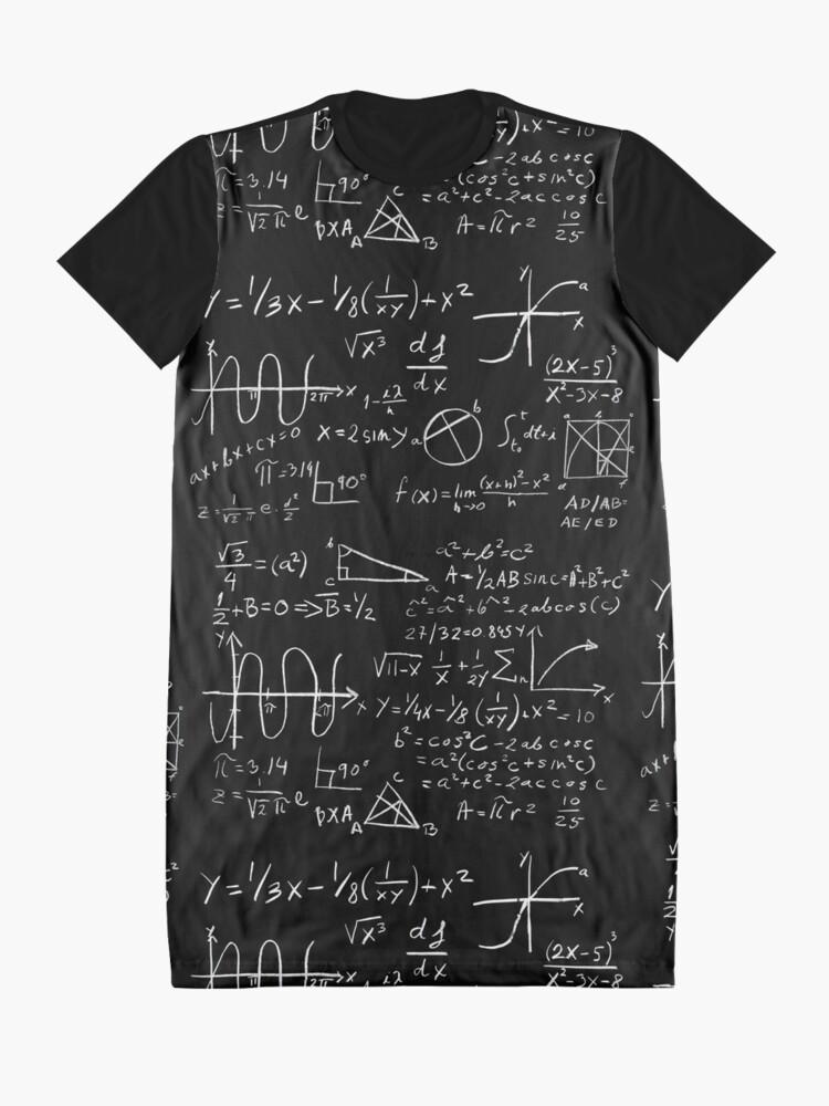 Alternate view of Math Graphic T-Shirt Dress