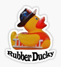 Rubber Ducky Fire Fighter  Sticker