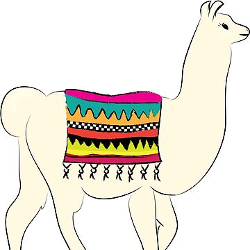 Llama Illustration Print by ThePrintPuffin