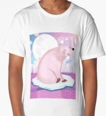 Pink bear in the pink world :) Long T-Shirt