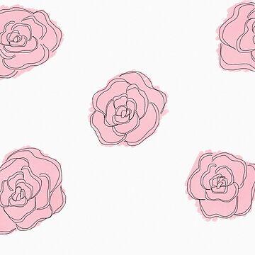 Pink roses by Tarasadventure