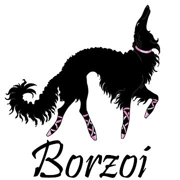 Ballet Borzoi Beauty In Black by tcarey