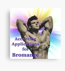 application for bromance Canvas Print