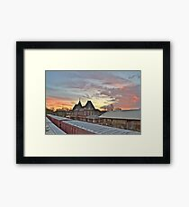 Depot. Holly Springs, Mississippi. Framed Print