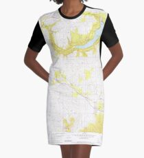 USGS TOPO Map Idaho ID Worley 238841 1981 24000 T-Shirt Kleid