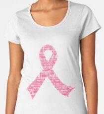 Breast Cancer Awareness Ribbon Women's Premium T-Shirt