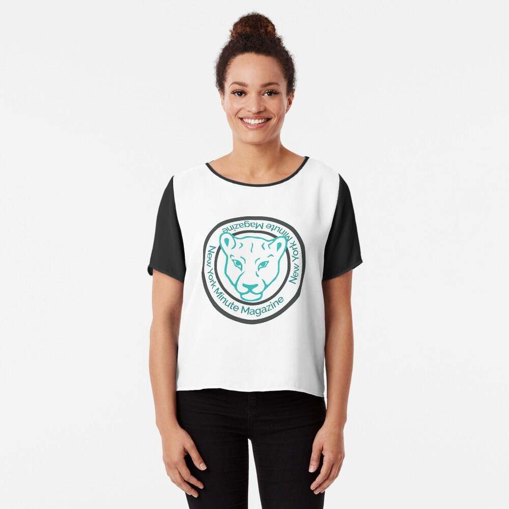 Blue Lioness Emblem Women's Chiffon Top Front
