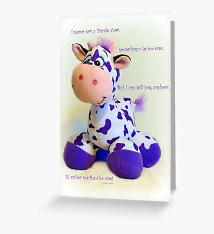 Purple Cow Greeting Card